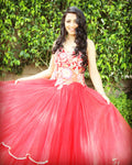 Lozanoo's  exclusive Vestido de novia rojo [ CUSTOMISATION IN DIFFERENT COLORS IS AVAILABLE ]