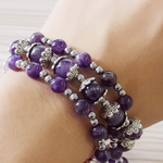 Amethyst Multilayer Bracelet