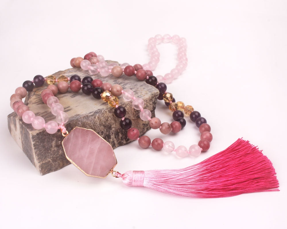 Peace in Love Mala and Bracelet Set