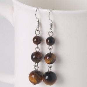 Dangle Long Lady Beaded Earrings