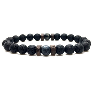 Natural Bead Bracelet Lava Stone Diffuser for Men