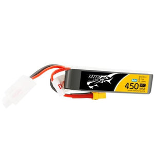Tattu - Batería Lipo 2S 450mAh 7.6V High Voltage 95C 2S1P conector XT30