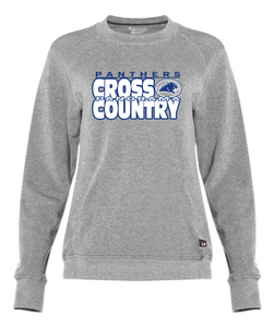 Panorama Cross Country-Badger - Women's Fitflex French Terry Crew - 1041 Oxford