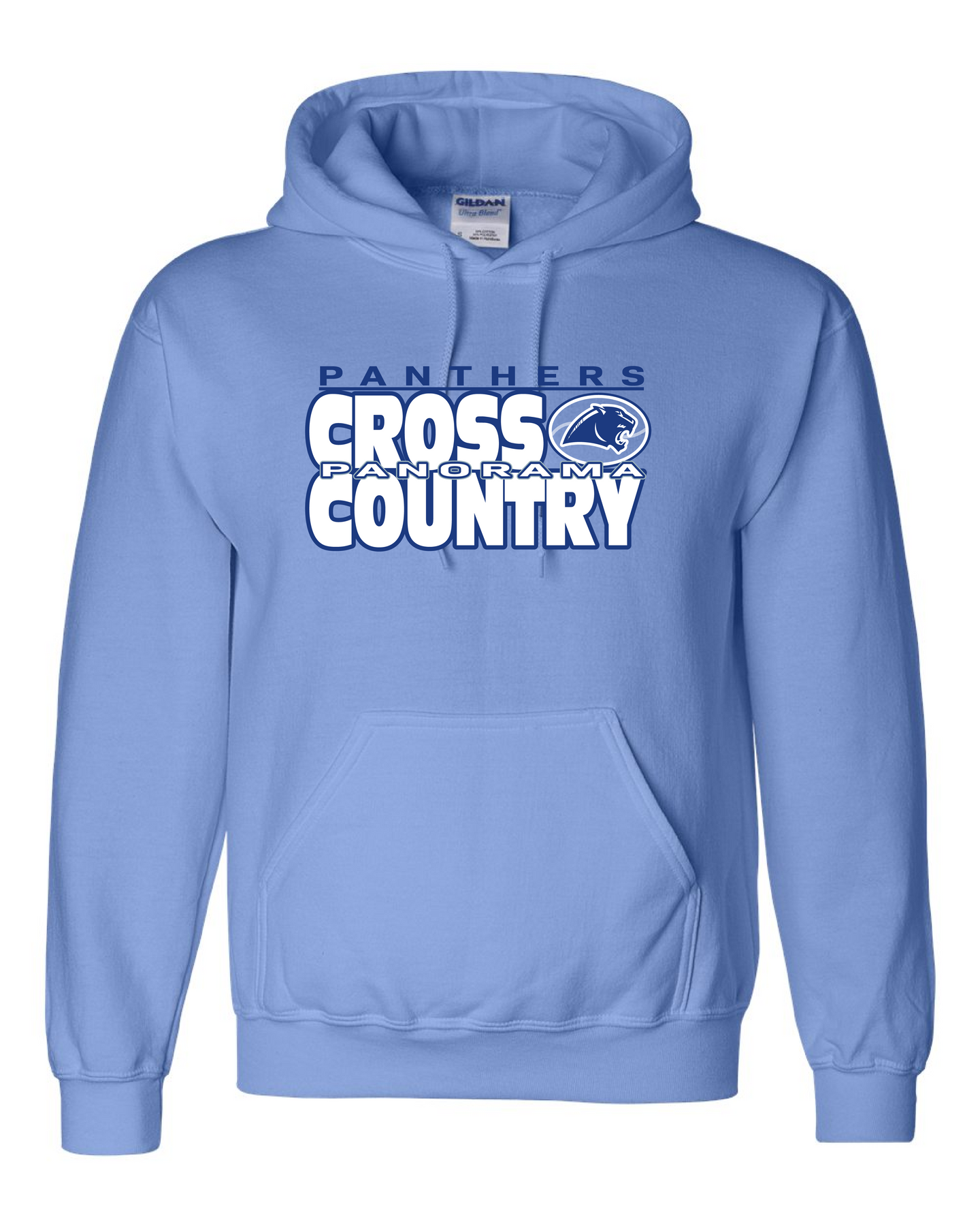 Panorama Cross Country-Gildan - DryBlend® Hooded Sweatshirt - 12500 Columbia Blue