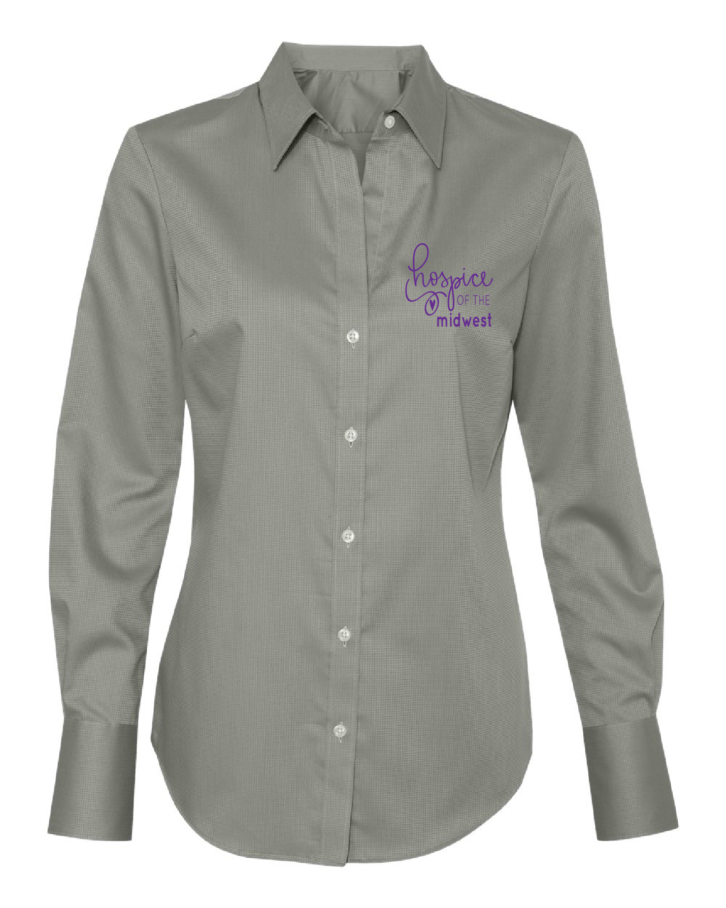 Hospice of the Midwest-Calvin Klein - Women's Non-Iron Dobby Pindot Shirt-13CK030