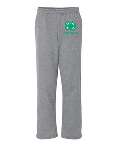 GUTHRIE COUNTY 4-H-Gildan Heavy Blend Open Bottom Sweatpant-18300 GRAPHITE