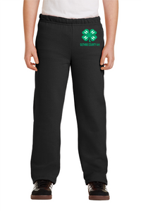 GUTHRIE COUNTY 4-H-Gildan Youth Heavy Blend Open Bottom Sweatpant-18400B BLACK