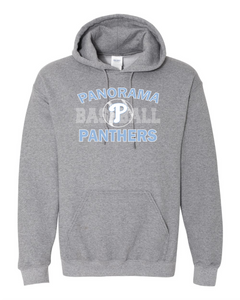 Panorama Baseball-Gildan - Heavy Blend Hooded Sweatshirt - 18500 Graphite Heather