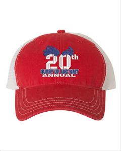 2020 HURRY UP & WAIT-Richardson - Snapback Trucker Cap - 111 RED/WHITE