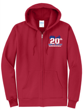 Load image into Gallery viewer, 2020 HURRY UP AND WAIT-Port & Company® Core Fleece Full-Zip Hooded Sweatshirt PC78ZH RED