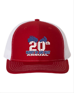 2020 HURRY UP & WAIT-Richardson - Snapback Trucker Cap - 112 RED/WHITE