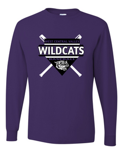 2020 WCV BASEBALL-JERZEES - Dri-Power® Long Sleeve 50/50 T-Shirt - 29LSR PURPLE
