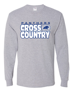 Panorama Cross Country-JERZEES - Dri-Power® Long Sleeve 50/50 T-Shirt - 29LSR Athletic Heather