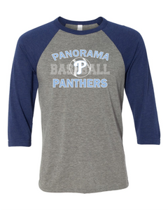 Panorama Baseball-Bella + Canvas - Unisex Three-Quarter Sleeve Baseball T-Shirt - 3200