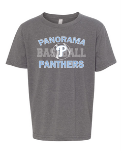 Panorama Baseball-Next Level - YOUTH Premium Short Sleeve Crew - 3312-DARK HEATHER GREY