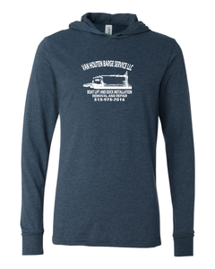 VH Barge Service-Bella + Canvas - Unisex Long Sleeve Jersey Hooded Tee - 3512