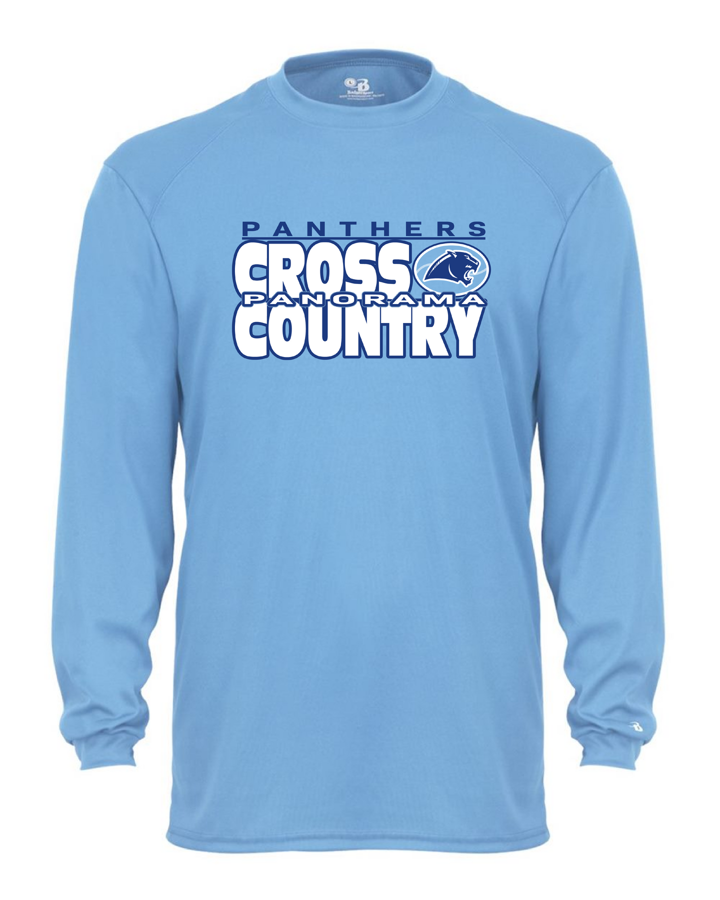 Panorama Cross Country--Badger - B-Core Long Sleeve T-Shirt - 4104 Columbia blue