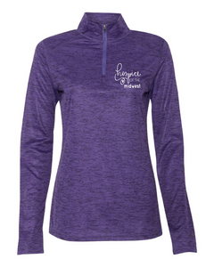 Hospice of the Midwest-Badger - Tonal Blend Women's Quarter-Zip Pullover - 4173