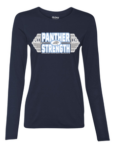 PANTHER STRENGTH--Gildan - Performance Women's Long Sleeve T-Shirt - 42400L NAVY