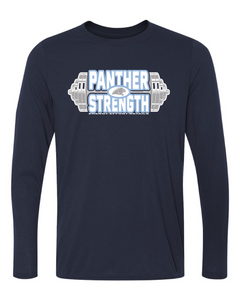 PANTHER STRENGTH--Gildan - Performance Long Sleeve Shirt - 42400 NAVY