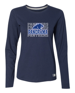 Panorama Boosters-Russell Athletic - Women's Essential 60/40 Performance Long Sleeve Tee - 64LTTX NAVY