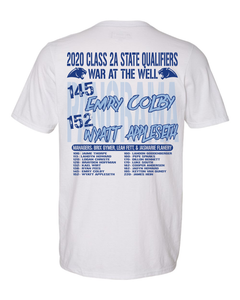 2020 STATE WRESTLING-Russell Athletic - Essential 60/40 Performance T-Shirt - 64STTM WHITE