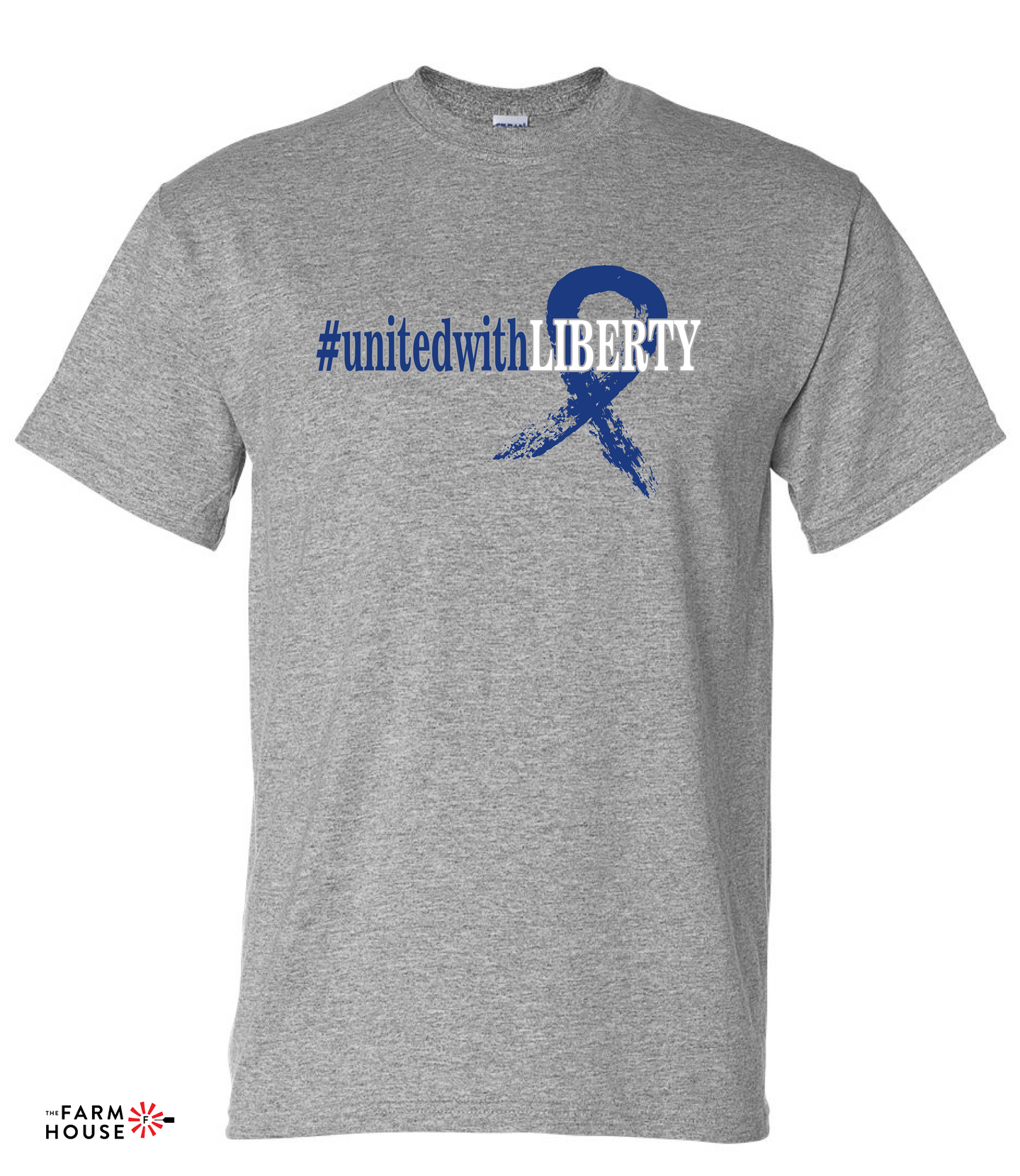#unitedwithLIBERTY-Gildan - DryBlend® Youth T-Shirt - 8000B Sport Grey