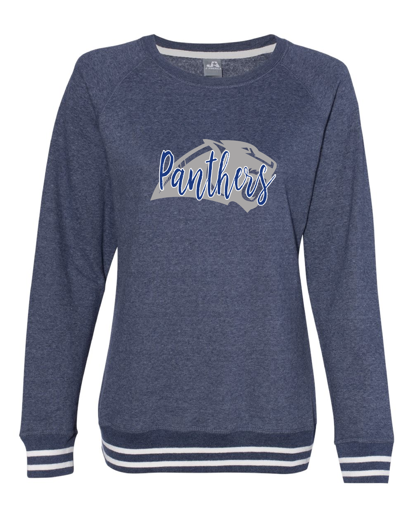 Panorama Boosters-J. America - Women's Relay Crewneck Sweatshirt - 8652 Navy
