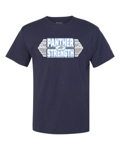 PANTHER STRENGTH--Champion - Premium Fashion Classics Short Sleeve T-Shirt - CP10 NAVY
