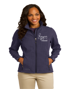 Hospice of the Midwest-Eddie Bauer Ladies Shaded Crosshatch Soft Shell Jacket-EB533
