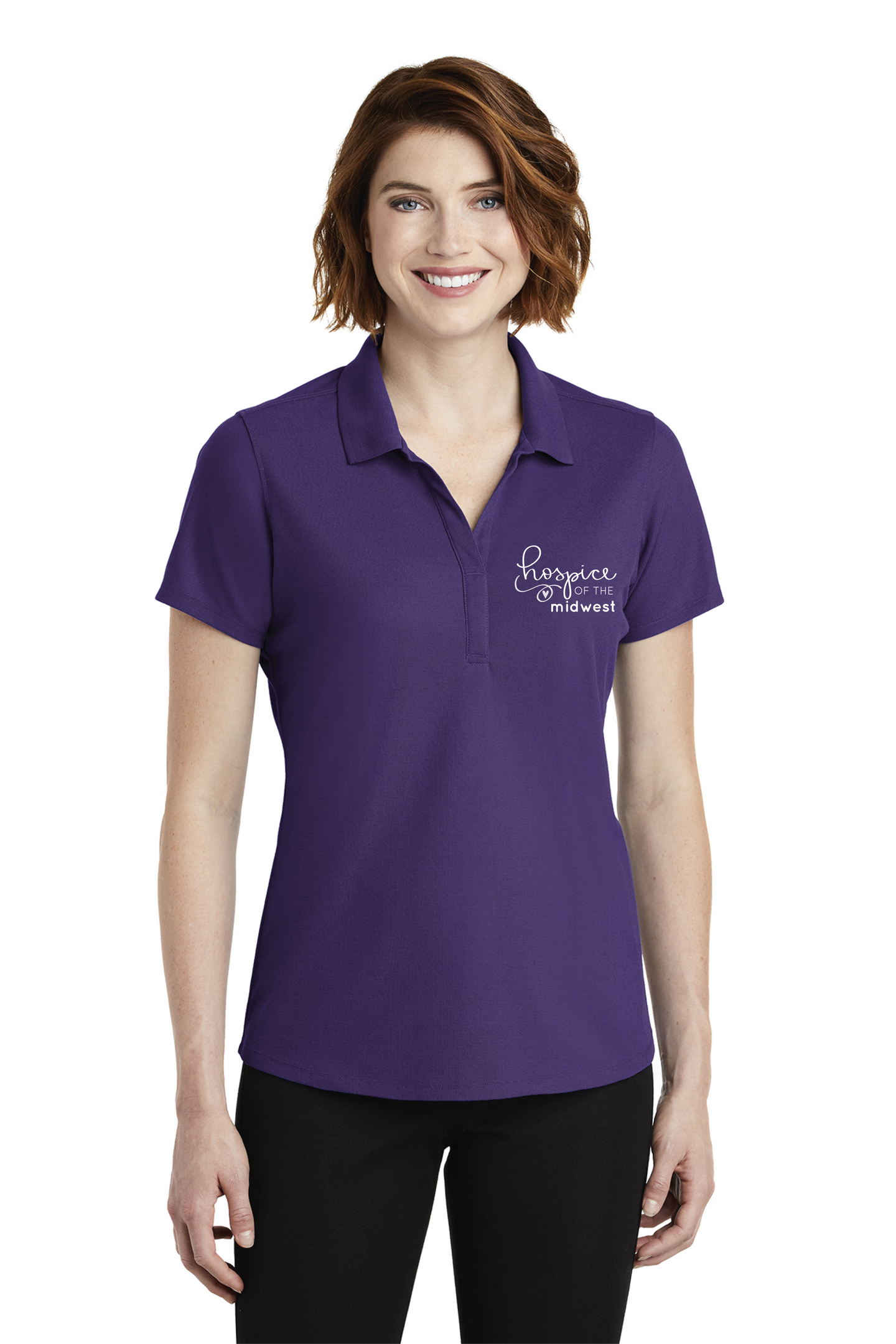 HOSPICE OF THE MIDWEST-Port Authority ® Ladies EZPerformance ™ Pique Polo PURPLE