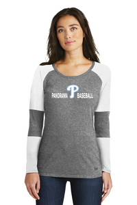 Panorama Baseball-New Era® Ladies Tri-Blend Performance Baseball Tee-LNEA132