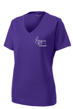 Load image into Gallery viewer, Hospice of the Midwest-Sport Tek Ladies PosiCharge V-neck tee-LST340