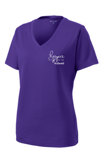 Hospice of the Midwest-Sport Tek Ladies PosiCharge V-neck tee-LST340