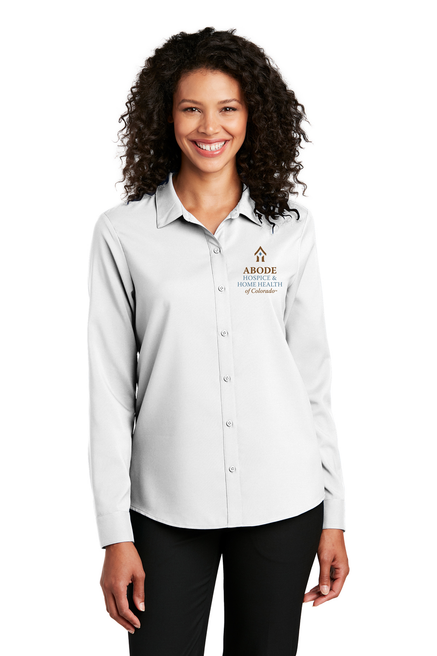 Abode Colorado-Port Authority ® Ladies Long Sleeve Performance Staff Shirt LW401