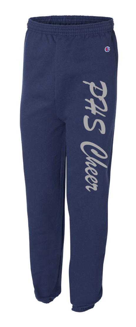 2020 Panorama Cheer-Champion - Double Dry Eco® Sweatpants - P900 NAVY W/ LIQUID SILVER PRINTINK