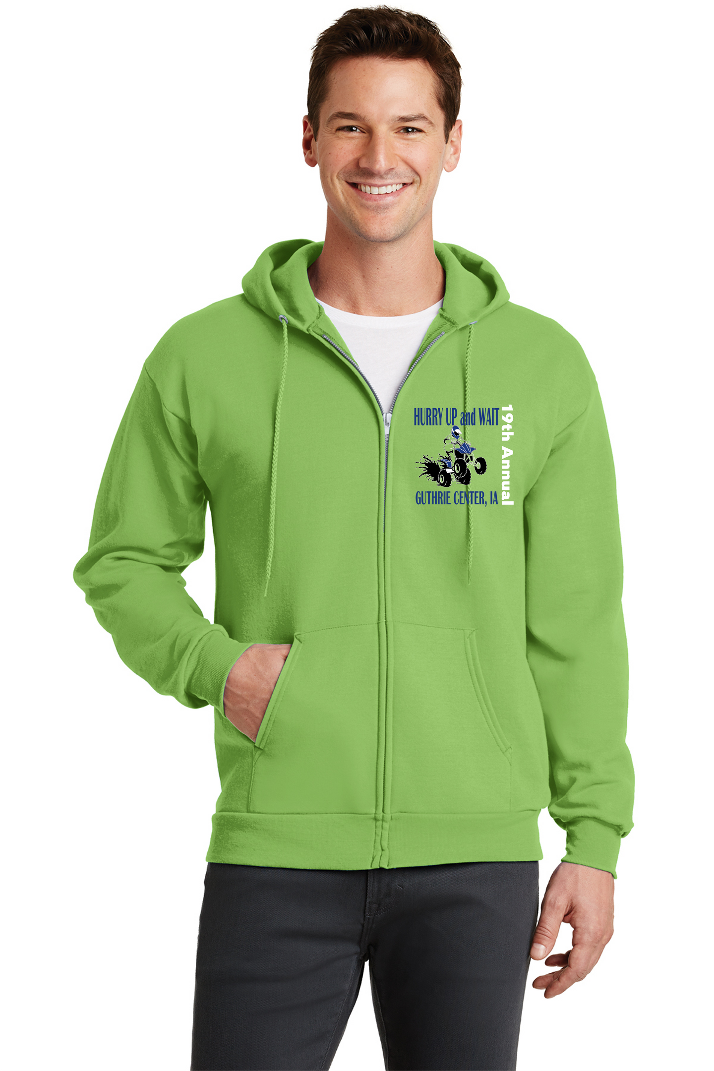 Hurry Up and Wait--Port & Company® - Core Fleece Full-Zip Hooded Sweatshirt-PC78ZH