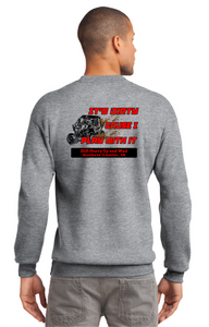 2021 Hurry up and wait-Port & Company® Essential Fleece Crewneck Sweatshirt PC90 athletic heather