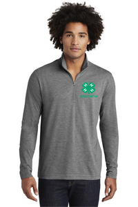 GUTHRIE COUNTY 4-H-Sport-Tek PosiCharge Tri-Blend Wicking 1/4-Zip Pullover-ST407 GREY