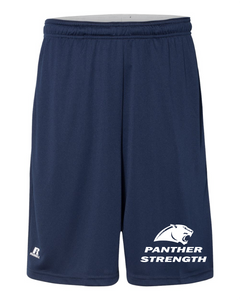"PANTHER STRENGTH--Russell Athletic - 10"" Essential Shorts with Pockets - TS7X2M NAVY"