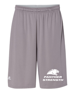 "PANTHER STRENGTH--Russell Athletic - 10"" Essential Shorts with Pockets - TS7X2M ROCK"