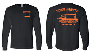 VH Barge Service Gildan DryBlend Long Sleeve Tees- 8400 Black