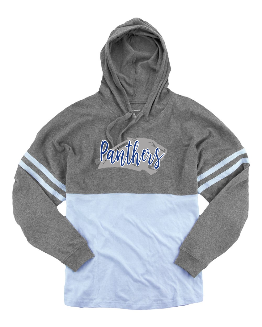 Panorama Boosters--Boxercraft - Youth Hooded Pom Pom Jersey - YT18 Carolina Blue