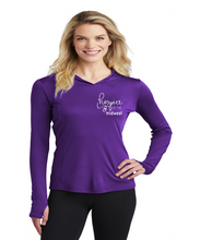 Load image into Gallery viewer, Hospice of the Midwest-Sport Tek Ladies PosiCharge Hooded Pullover-LST358