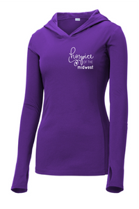 Hospice of the Midwest-Sport Tek Ladies PosiCharge Hooded Pullover-LST358