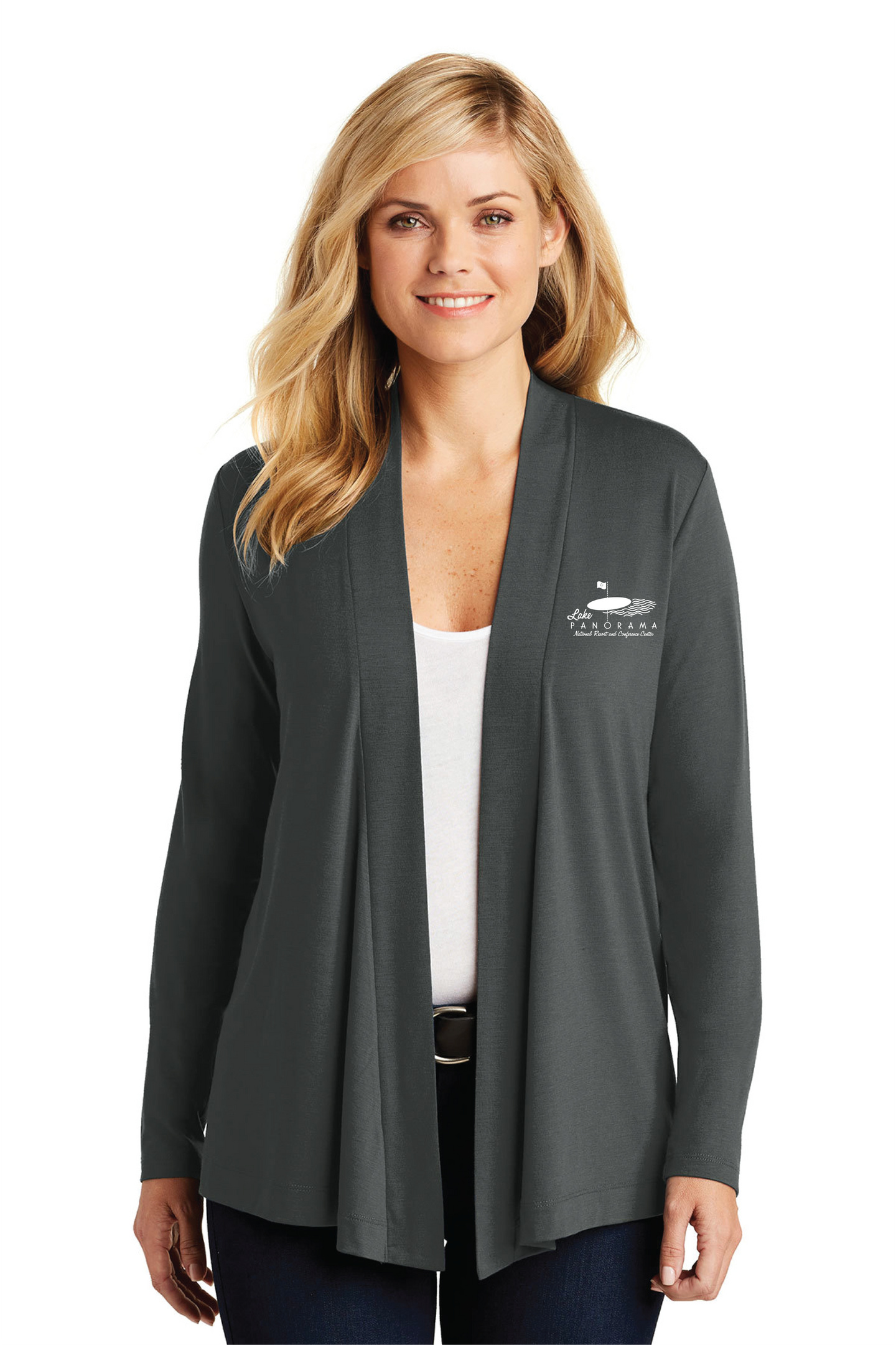 LPN-L5430  Port Authority® Ladies Concept Open Cardigan SMOKE GREY