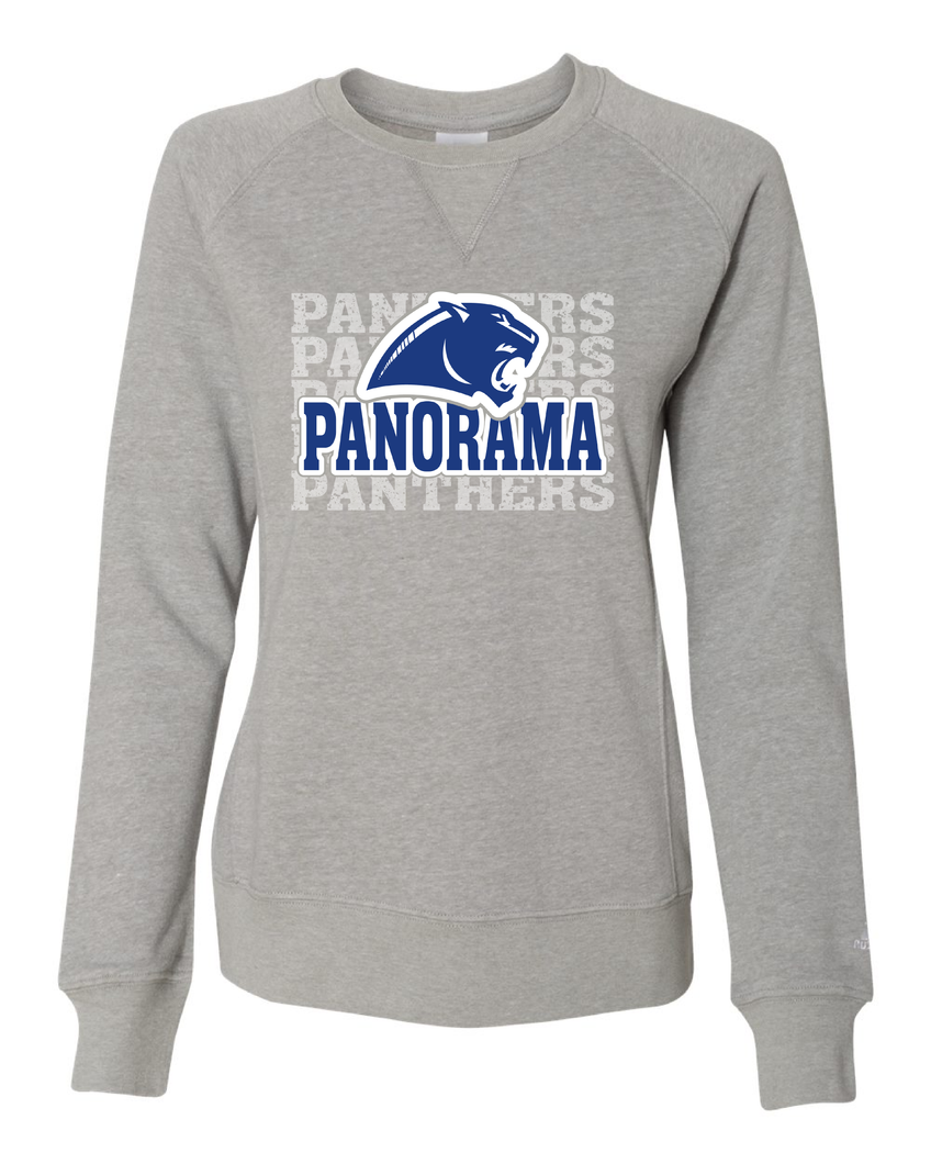 Panorama Boosters-Russell Athletic - Women's Lightweight Crewneck Sweatshirt - LF3YHX OXFORD