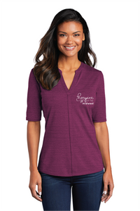 Hospice of the Midwest-Port Authority ® Ladies Stretch Heather Open Neck Top LK583