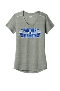 PANTHER STRENGTH--OGIO ® ENDURANCE Ladies Peak V-Neck Tee-LOE337