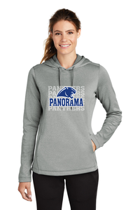 Panorama Boosters- Sport-Tek ® Ladies PosiCharge Sport-Wick Heather Fleece Hooded Pullover LST264 silver heather